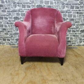 DFS Pink Velvet Armchair