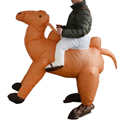 Novelty Inflatable Camel Costume Ride Mascot Funny Party Outfit Fancy Dress