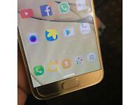 Samsung s7 unlocked Platinum gold