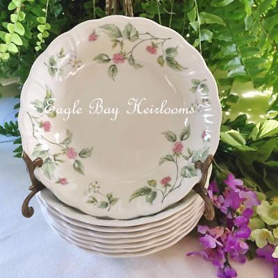8 - COUPE SOUP BOWLS - Nikko Japan - Blossom Time - Begonia - Pink /Green Floral