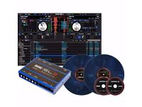Rane Serato SL3 scratch live Blue Edition with Blue Marble Vinyl's
