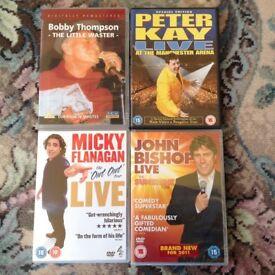 DVD's x 4 Comedy. 1 unopened. Guaranteed all Original All Immc. Cond.