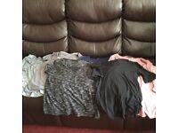 6 X Maternity and nursing tops bundle - size 14