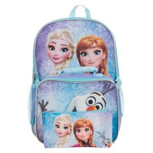 Frozen Elsa, Anna & Olaf Girls 15 Inch School Backpack Set with Lunch Kit and Pencil Case