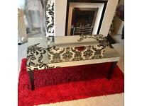 Lawrence Llewelyn Bowen glass mirror table