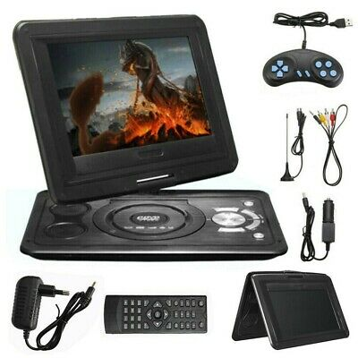 "13.9"" Tragbarer Auto DVD Player USB Portable analog TV LCD Display CD Game SD FM"