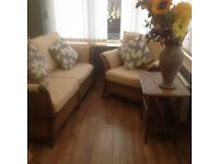 Conservatory furniture two seater settee and one chair and table