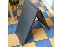 Metal Framed A-Board Black
