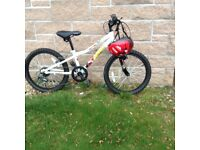 Almost new child's/children's bike with helmet for sale, ideal for Christmas!