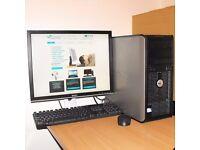 Dell 360 Windows 10 PC Dual Core Desktop Computer Complete 2GB RAM 80GB HDD Microsoft Office