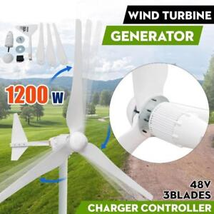 1200W Max Power 3 Blades DC48V Wind Turbine Generator Kit With Charge Controller - BRAND NEW - FREE SHIPPING