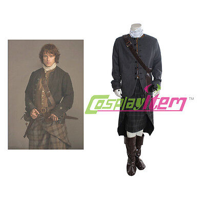 Outlander TV series cosplay costume Jamie Fraser cosplay costume man's outfit](Jamie Halloween Costume)