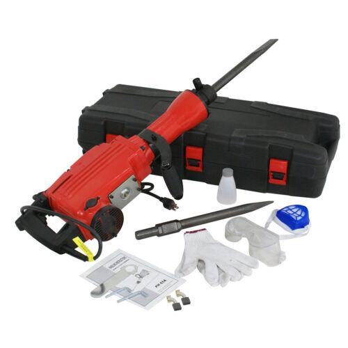 2200W Demolition Jack Hammer Electric Concrete Breaker Punch 2 Chisel Bit w Case Breakers & Demolition Hammers