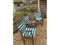 Wood & Canvas garden chairs