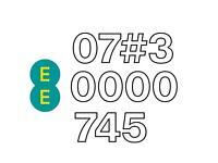 Gold Memorable number 07?3 0000 745 (EE PAYG SIM card)