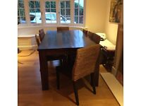 Reduced: Large teak wood dining table with eight chairs - attractive, high quality, and durable!