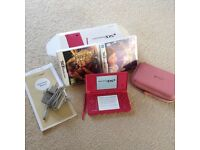 Nintendo DSi pink console and games