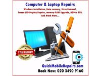 Computer & Laptop Repairs, Windows, Linux, HDD, SSD, RAM, CPU, Graphic Card, Virus, Keyboard Service