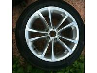 "Genuine vw passat Alloy wheel 17"" with Continental tyre."