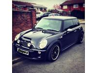 Mini Cooper s 2005 BLACK 1.6 supercharged Vintage alloy wheels Speakers and stereo LOW MILEAGE FSH