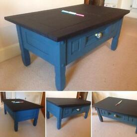 Chalkboard Coffee Table with drawer