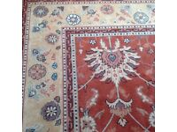 USED LARGE ALL WOOL ROYAL KESHAN RUG