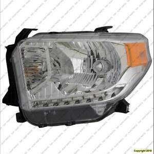Head Light Driver Side Sr/Sr5/Limited Halogen Without Level Adjuster High Quality Toyota Tundra 2014-2017