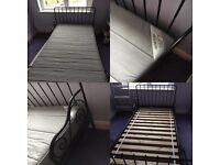 Ikea Minnen Bed Frame and SULTAN HÖGBO Mattress