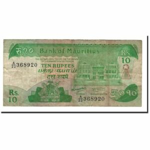 Billets-Mauritius-10-Rupees-1985-KM-35a-TB-562183