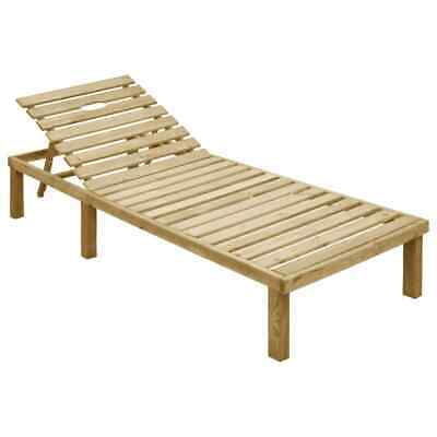 vidaXL Sun Lounger Impregnated Pinewood Chaise Lounge Daybed Relaxing Seat