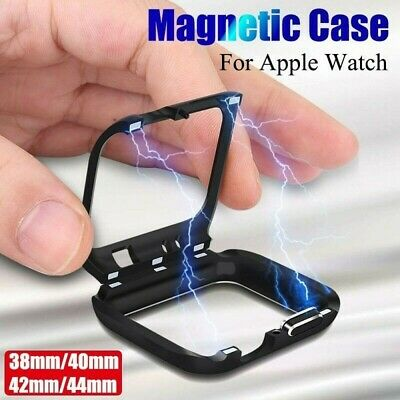 Apple Watch Series 5/4/3/2/1 Magnetic Metal Case Bumper Cover 38 40 42 44mm