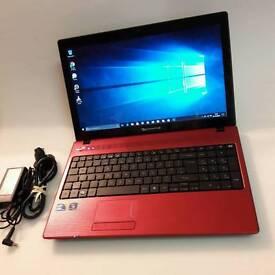 """Packard Bell Easy NoteTK87 (Red)– 15.6"""" - 1TB HDD, 3GB Ram, 320GB HDD"""