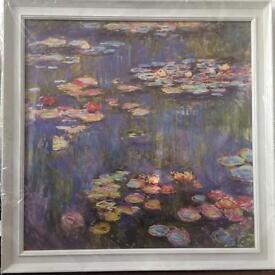 Target ovarian cancer awareness month Monet print and frame water lilies donation