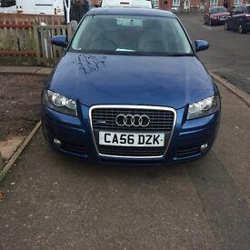 Audi A3 blue colour five door 9 month MOT 115,000 mileage low price £3200