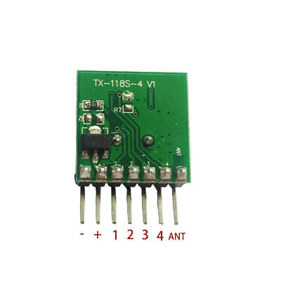 Mini Wireless 433Mhz RF Remote Control 1527 Learning Code Transmitter Module ()
