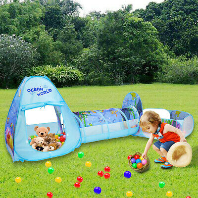 Children's Tent With Tunnel Ball Pit Game House Summer Beach House - Tent House Tunnel