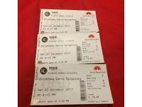 3 tickets to Royal Albert Hall Christmas Carol Singalong on Saturday 23 December at 4.15pm