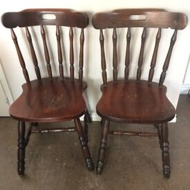 Wooden farmhouse style chairs