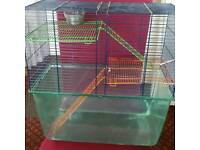 Gerbil hamster cage with accessories
