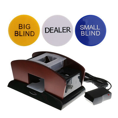 Automatic Playing Card Wood Poker Card Shuffler Toy for 1-2 Decks+Dealer #2