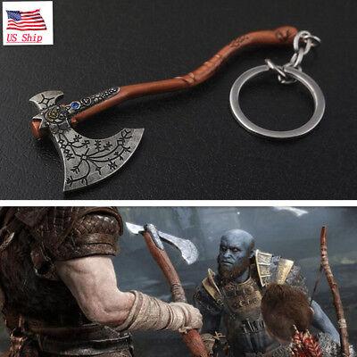 US! God of War 4 Kratos Guardian Ice Axe Metal Keychain Halloween Gift Keyring](God Of Halloween)