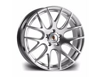 "*Load Rated* Silver x4 19"" Stuttgart St3 Alloy Wheels 8.5J Bmw 1 2 3 Series"