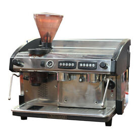 Reconditioned Expobar Elegnace 2 Group Commerial Espresso Machine With Built in Grinder.Plus Install