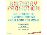 Website, Hosting & Logo for £249!