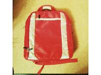 Red laptop shoulder bag
