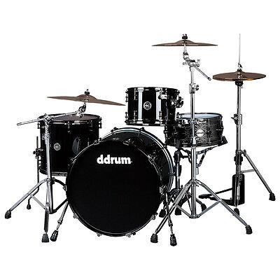 ddrum MAX 324 PB Piece Drum Shell Pack, Piano Black