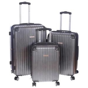 "Air Canada 3pc Spinner Set 20"", 24"" & 28"" Hardside Upright Luggage [ Charcoal ]"