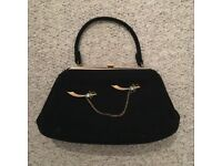 Vintage Handbag With Gold Badge Detail