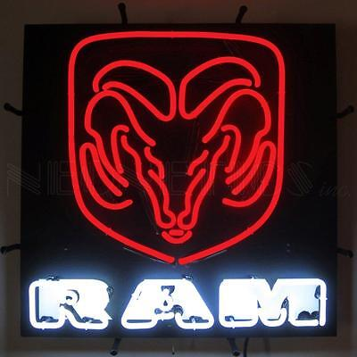 Ram Red Neon Sign With Backing  5RAMBK w/ FREE Shipping