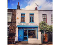 Well Street Kitchen requires a part-time bartender, cocktail waiter or restaurant manager